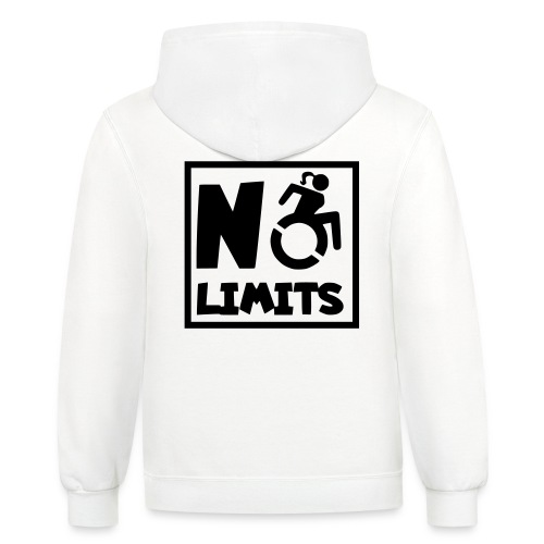 No limits for this female wheelchair user - Unisex Contrast Hoodie