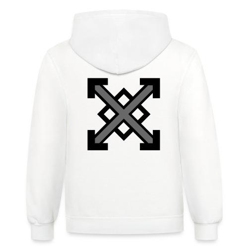 zegat1ve Black - Contrast Hoodie