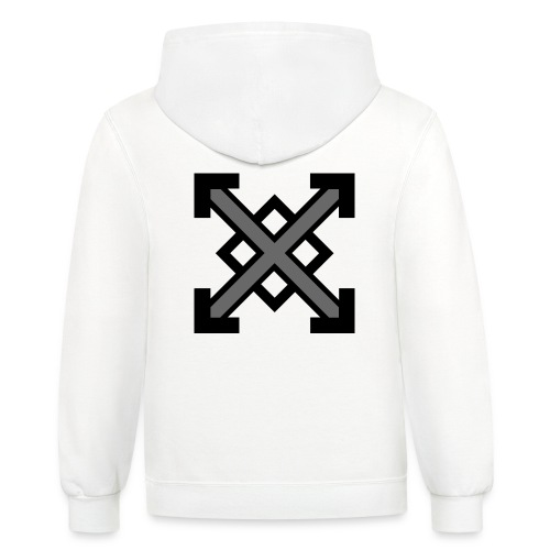 zegat1ve Black - Unisex Contrast Hoodie