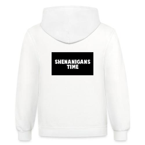SHENANIGANS TIME MERCH - Unisex Contrast Hoodie