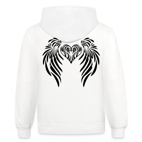 Angel Messenger - Protection - Unisex Contrast Hoodie