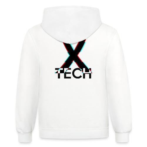 X-Tech Logo - Black - Unisex Contrast Hoodie