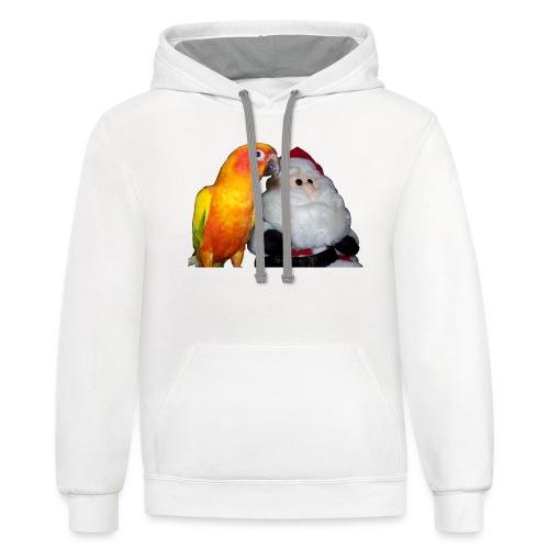 gigibirdandsanta - Contrast Hoodie