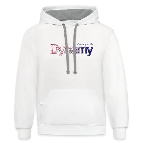 Dynamy Logo - Unisex Contrast Hoodie