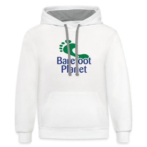 Barefoot Running 1 Women's T-Shirts - Unisex Contrast Hoodie