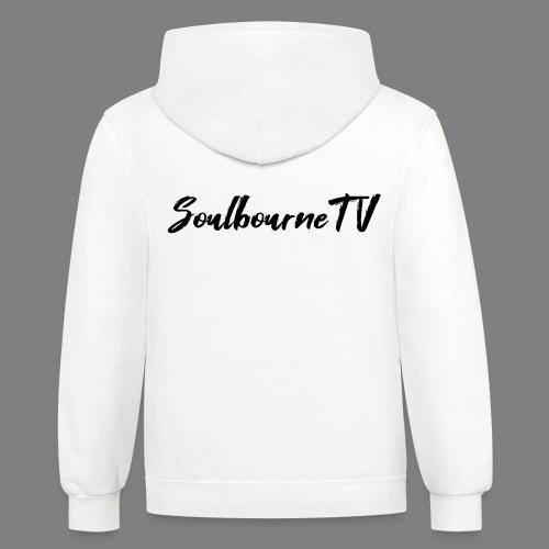 SoulbourneTV - Black on White - Unisex Contrast Hoodie
