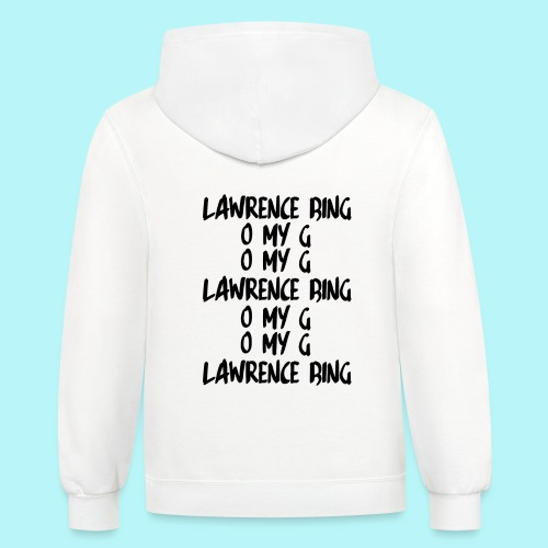 LAWRENCE BING , O MY G - Contrast Hoodie