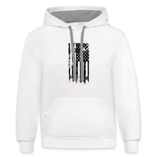 we the people no txt.png - Unisex Contrast Hoodie