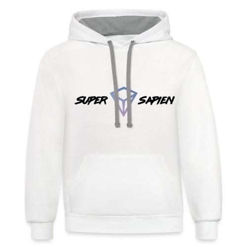 Super Sapien Diamond Black - Unisex Contrast Hoodie