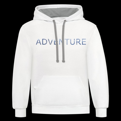adventure banff mountain - Contrast Hoodie