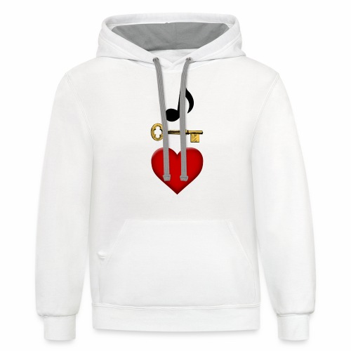 Music is Key to My Heart - Contrast Hoodie