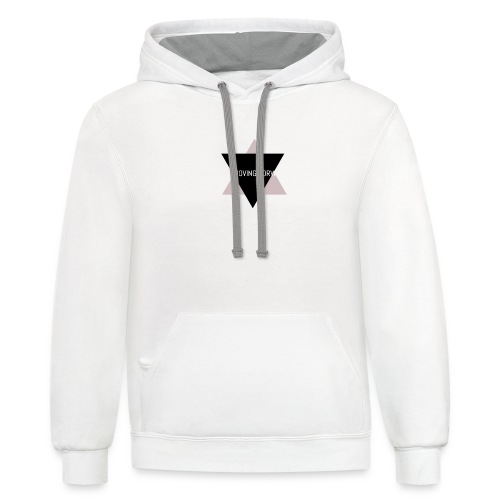 Keep Moving Forward - Contrast Hoodie