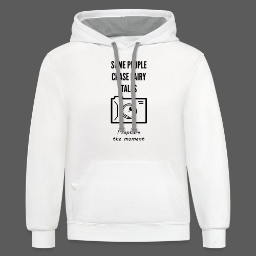 Capture the moment - Unisex Contrast Hoodie