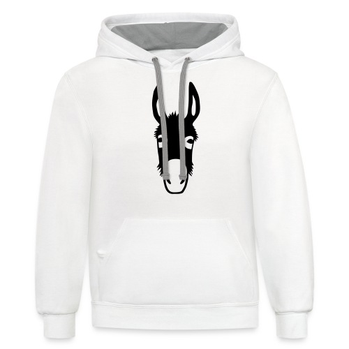 donkey mule horse muli pony - Contrast Hoodie