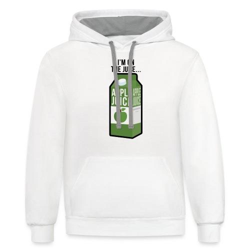 I'm on the apple juice - Unisex Contrast Hoodie