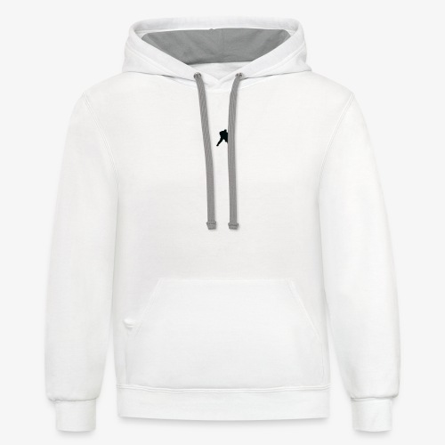 Grey Hockey Sweater - Unisex Contrast Hoodie