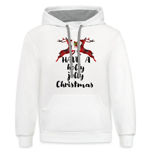 Holly Jolly Christmas - Contrast Hoodie