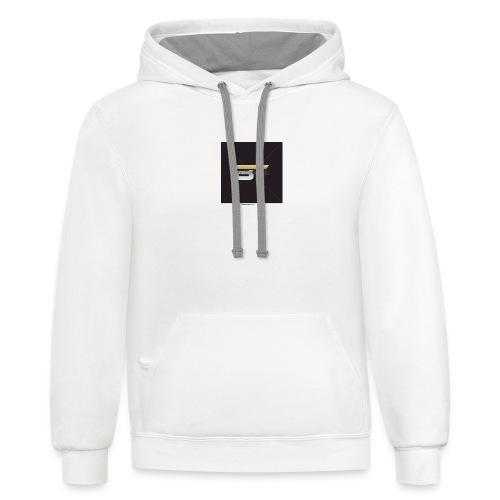BT logo golden - Contrast Hoodie