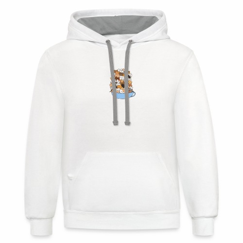 Cats in a cup - Unisex Contrast Hoodie