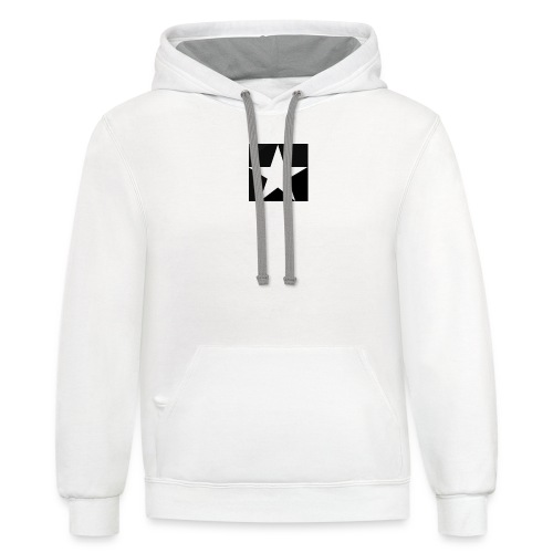 MOB-MOM ' WHITE STAR - Unisex Contrast Hoodie
