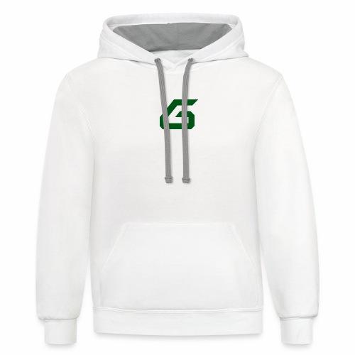 The New Era M/V Sweatshirt Logo - Green - Unisex Contrast Hoodie