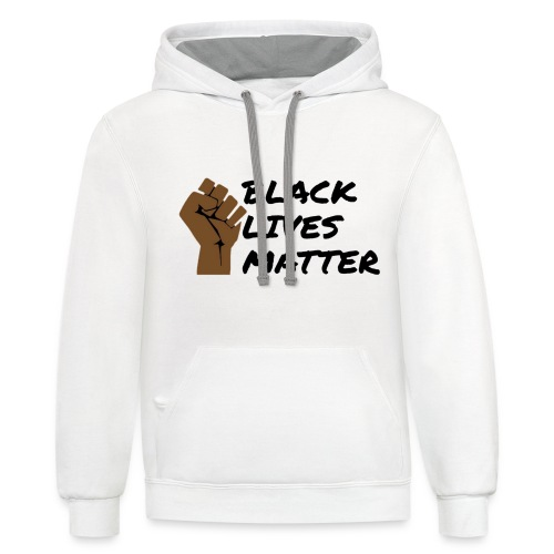 Black Lives Matter 2 - Unisex Contrast Hoodie