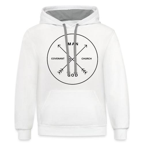 Man of God - Unisex Contrast Hoodie