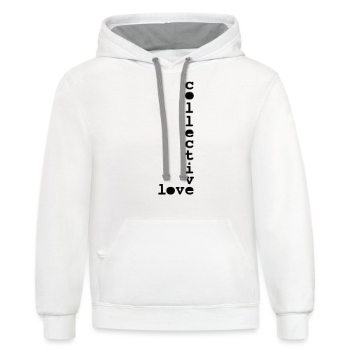 collective love - Contrast Hoodie