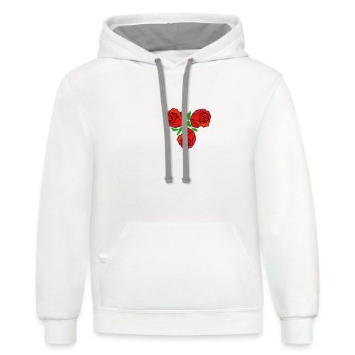 Simple Red Roses - Contrast Hoodie