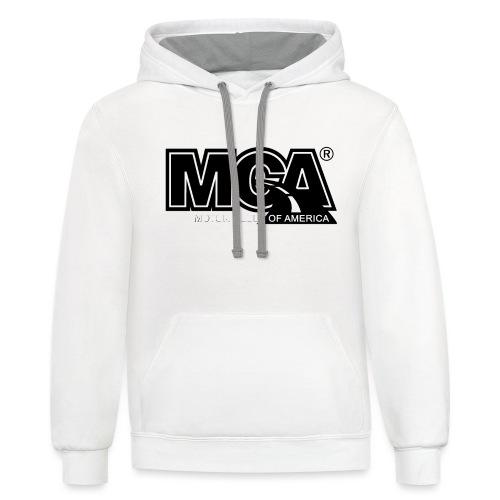 MCA Logo WBG Transparent BLACK TITLEfw fw png - Unisex Contrast Hoodie
