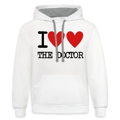 I Heart The Doctor - Contrast Hoodie