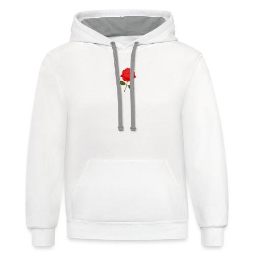 Rose Shirt - Unisex Contrast Hoodie