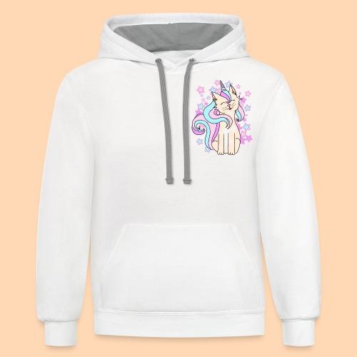 cat-unicorn - Unisex Contrast Hoodie
