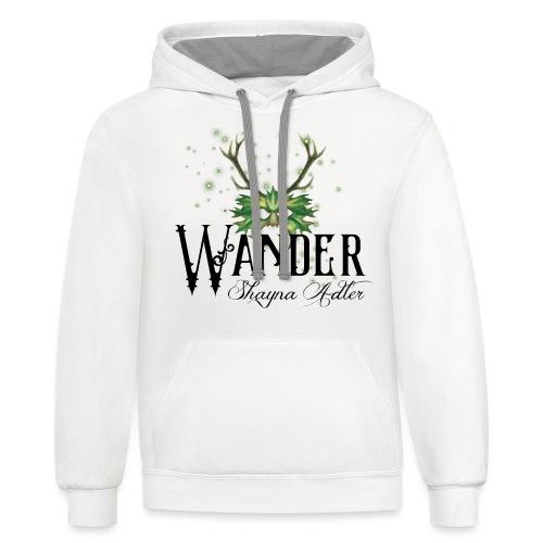 Wander in Green - Unisex Contrast Hoodie