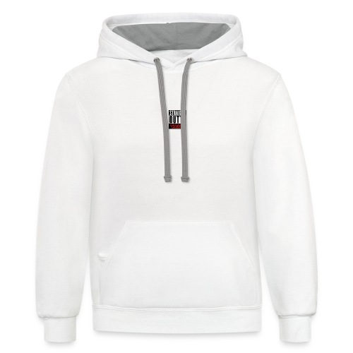 straight outta sheeps - Contrast Hoodie