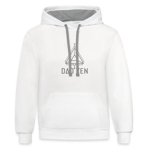 Dao Zen Gray Shirt - Unisex Contrast Hoodie