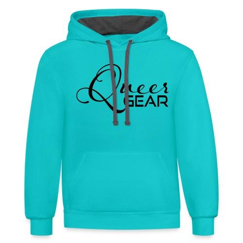 Queer Gear T-Shirt 03 - Unisex Contrast Hoodie