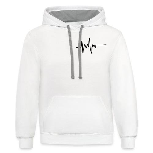 Heartbeat - Unisex Contrast Hoodie