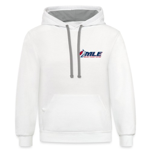 Major League Eating Small Logo - Unisex Contrast Hoodie