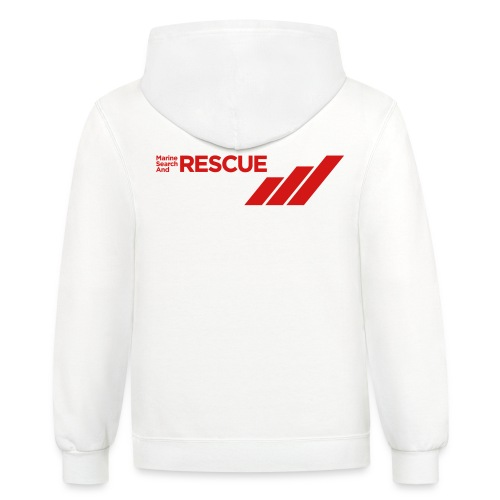 MSAR Red Logo with Stripes - Unisex Contrast Hoodie