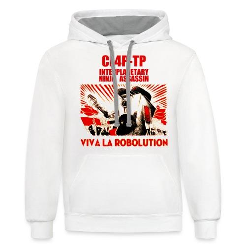 Claptrap Viva la Robolution - Unisex Contrast Hoodie