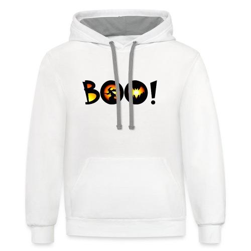 Happy Halloween Boo 2 - Contrast Hoodie