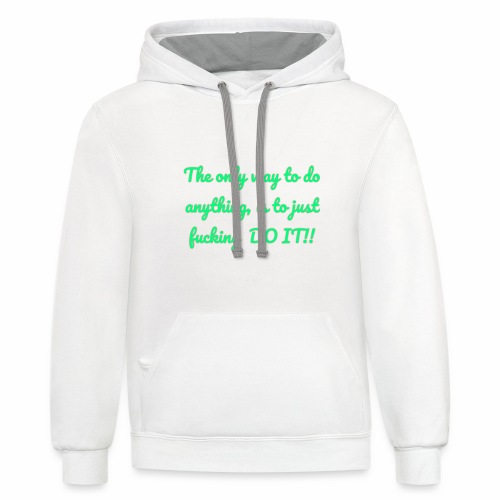 Therhappy/inspiration - Contrast Hoodie