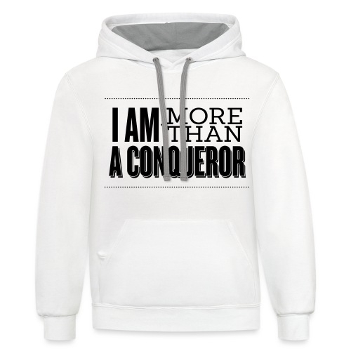 I Am More Than a Conquereor by Shelly Shelton - Unisex Contrast Hoodie