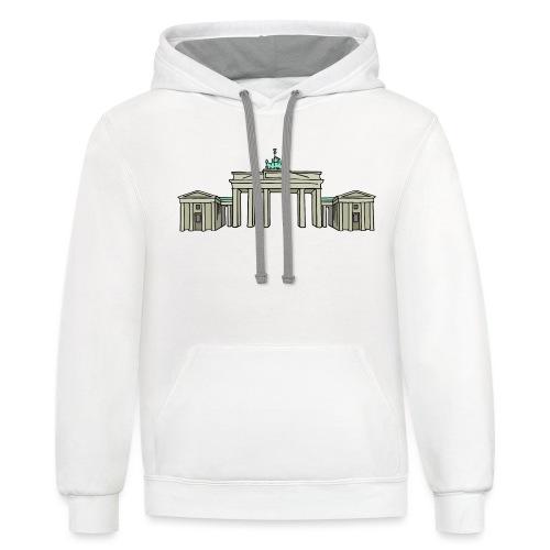 Brandenburg Gate Berlin - Contrast Hoodie