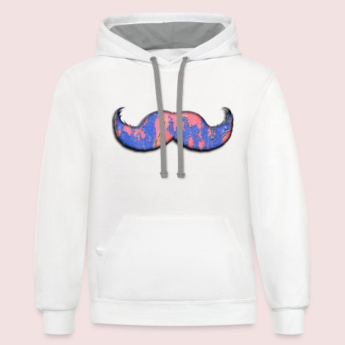 mustache - Contrast Hoodie