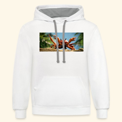 obama is gone crab- Mme Worthy Apparel - Contrast Hoodie