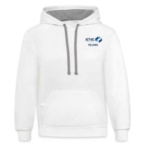 colored WITH TEXT Fellows actiac logo cmyk - Unisex Contrast Hoodie
