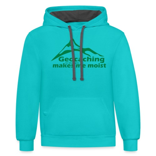 Geocaching in the Rain - Contrast Hoodie