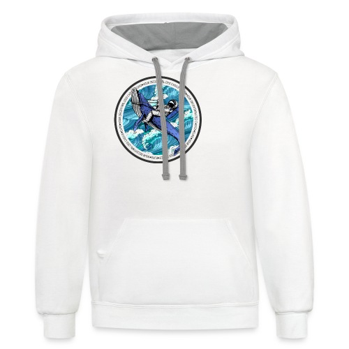 Astronaut Whale - Contrast Hoodie